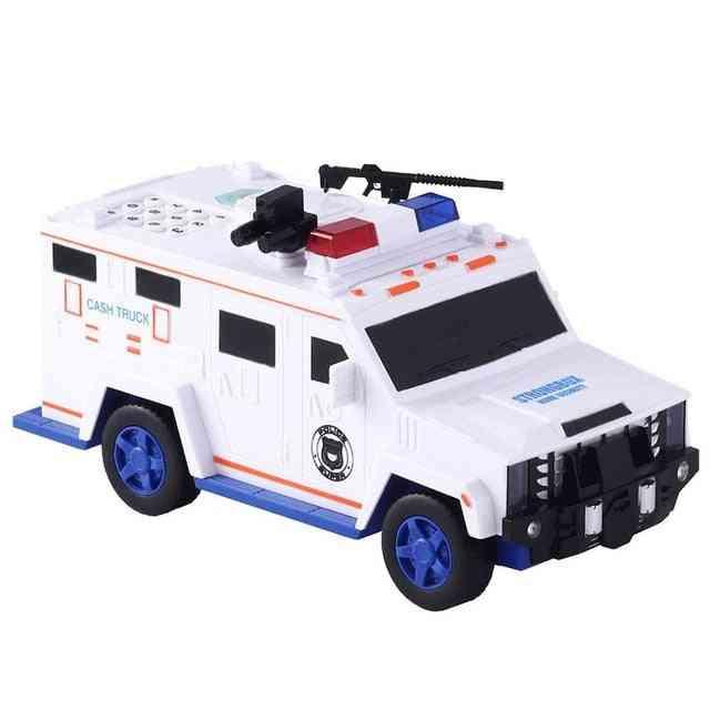 Money Transport Police Car- Digital Coin Count Bank