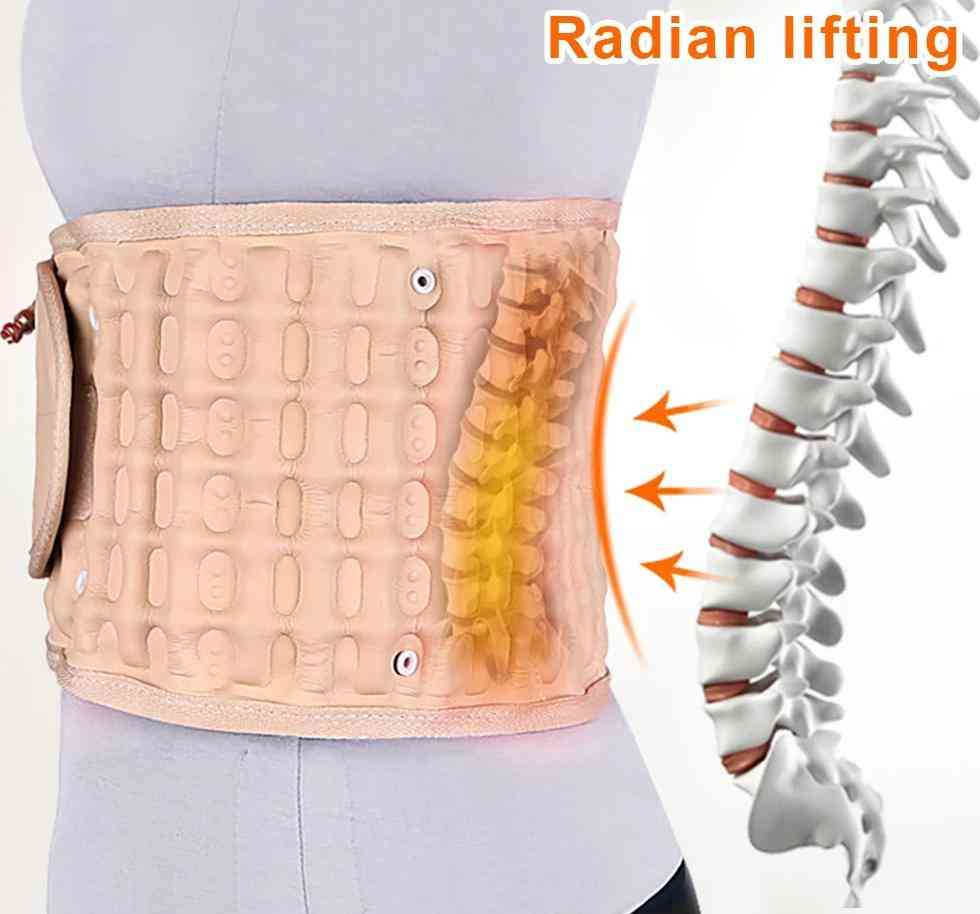 Waist Air Traction Brace Belt - Spinal Lumbar Support, Back Relief Belt Backache Pain Relief Massager