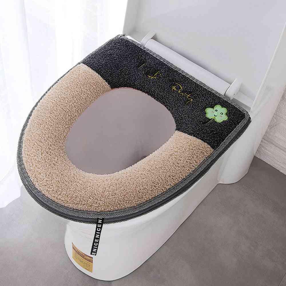 Zipper, Padded And Machine Washed Toilet Seat Cushion