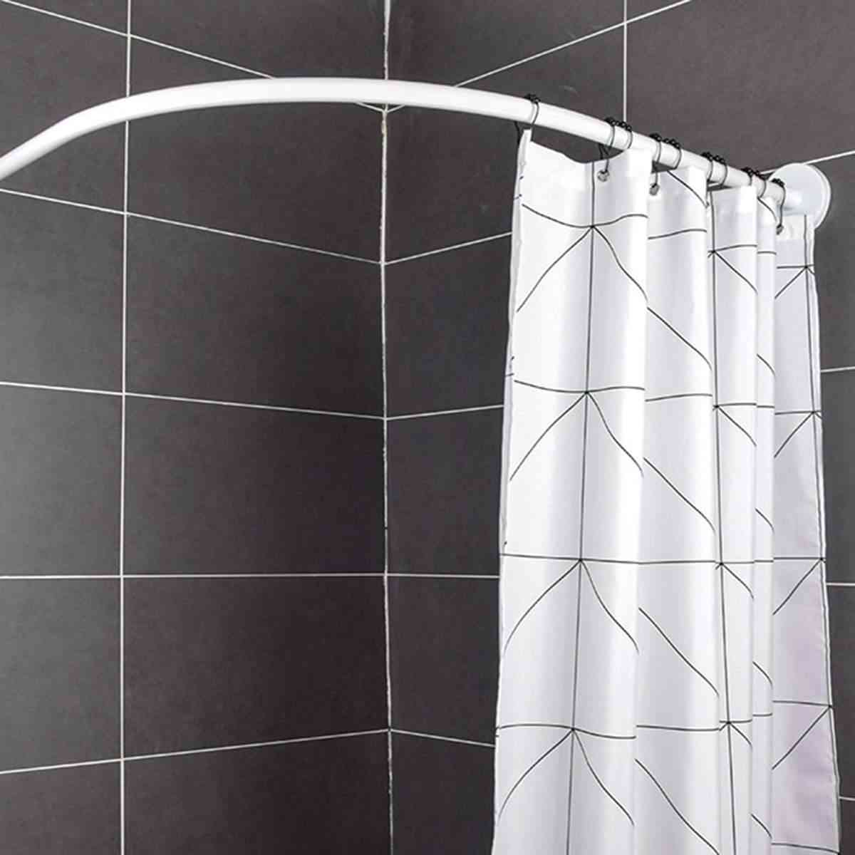L Shape, Stainless Steel, Extendable Shower Curtain Rod