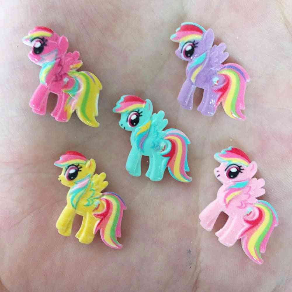 Modern Resin Hand Paint Cute Horse Flatback Stone - Child Scrapbook Buttons Crafts Ornament