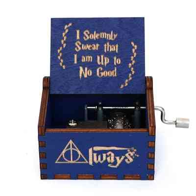 Harry Potter Collectibles -  Wooden Hand Crank -blue Music Box