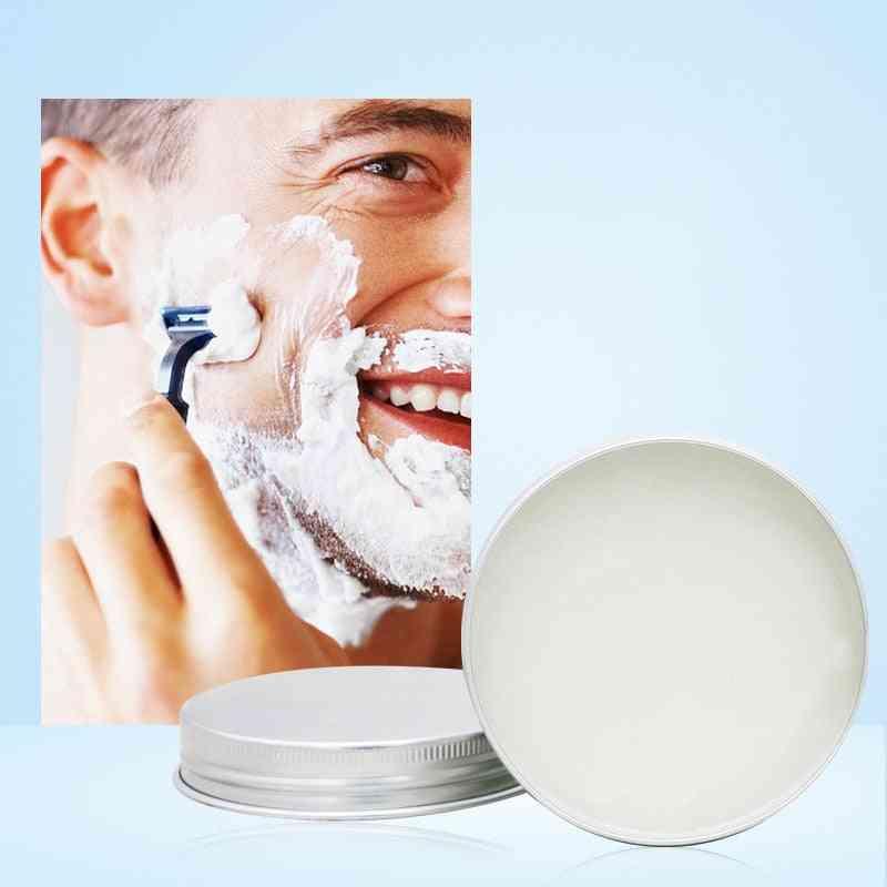 Mint Scented Men's Shaving Soap, Cream Aluminum Boxed Foam, Rich Gentle Handmade
