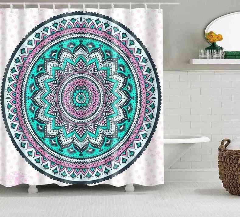 Mandala Geometric Print Shower Curtain