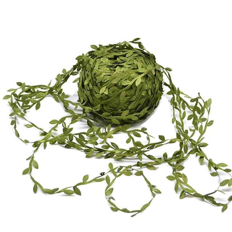 Leaf Shaped Handmade Artificial Green Leaves For Wedding Decoration, Scrapbooking, Fake Flowercraft