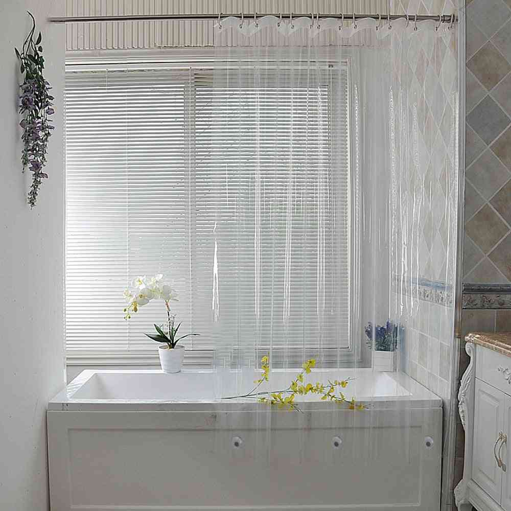 Transparent And Waterproof Plastic Shower Curtains