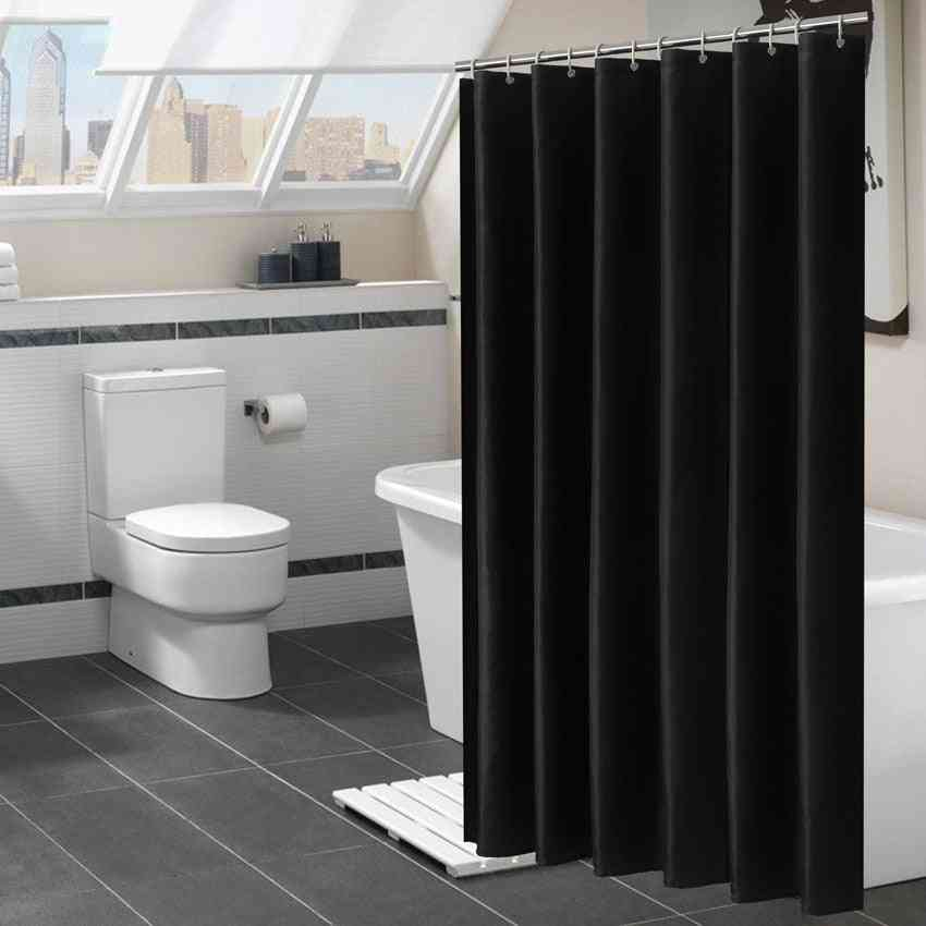 Modern, Waterproof Polyester Shower Curtains With Hooks