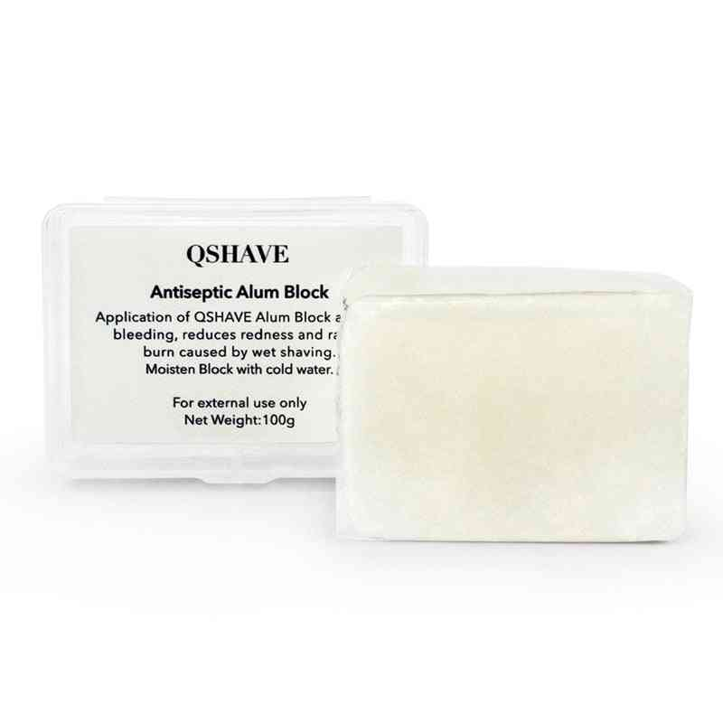 Large Alum Block In Storage Case-soothing Aftershave Astringent