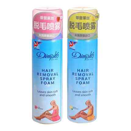 Dimples Hair Remover Spray Foam, Leaves Skin Soft And Smooth