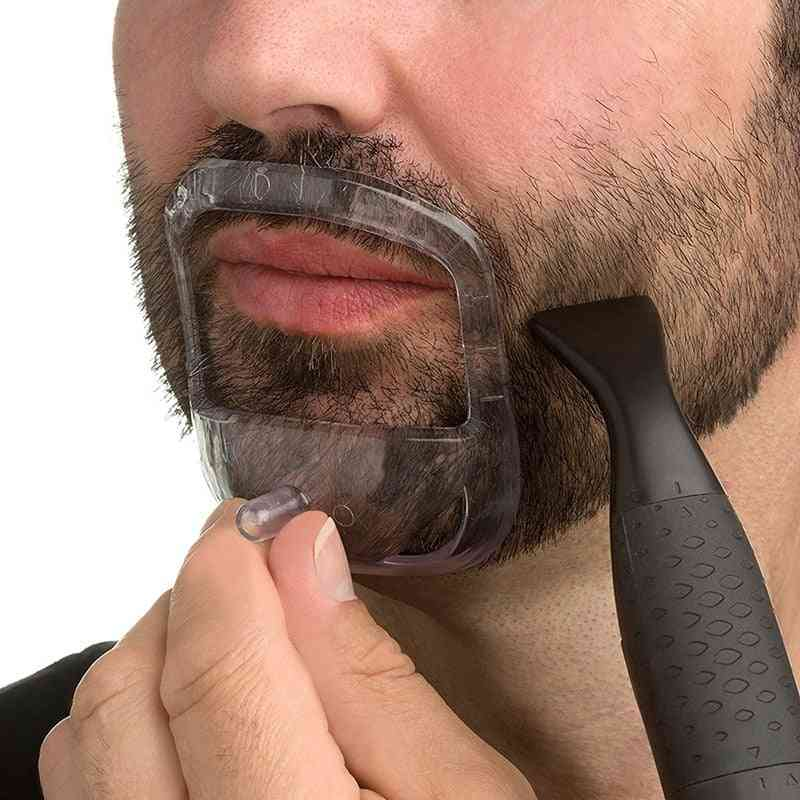 Moustache-beard Shaping And Styling Template