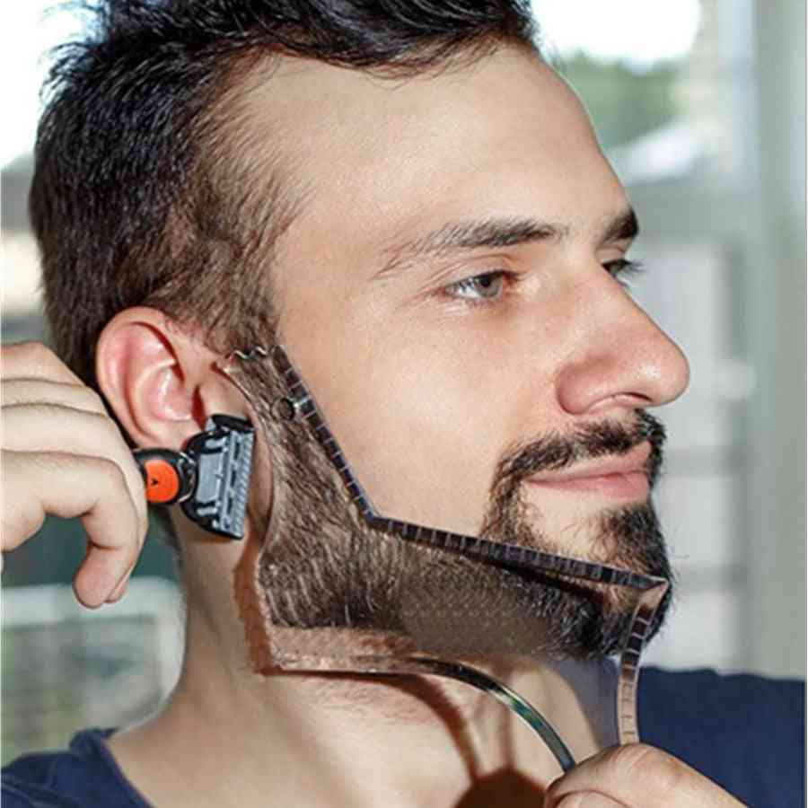 Beard-moustache Shaping Template