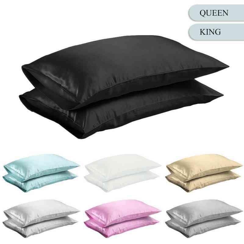 Smooth Silk Satin Pillow Case Bedding For Home