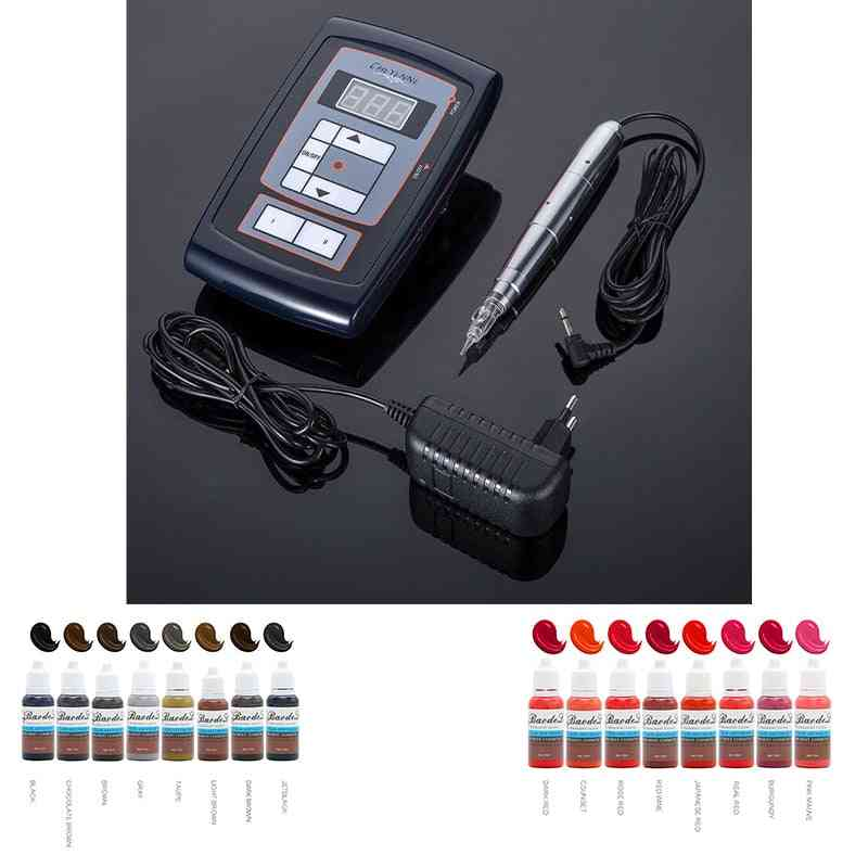 Permanent Make Up Machine With Tattoo Ink Kit For Eyebrow