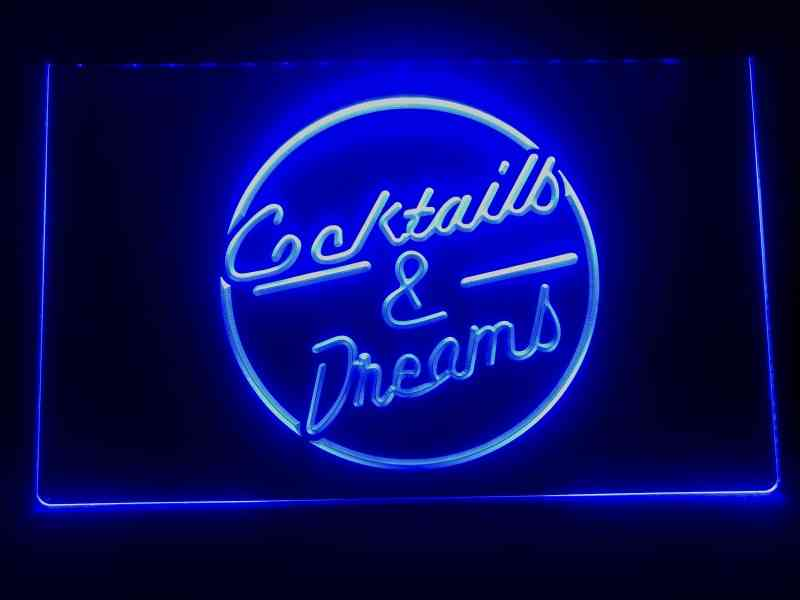Cocktails & Dreams Printed Led Neon Light Sign Board