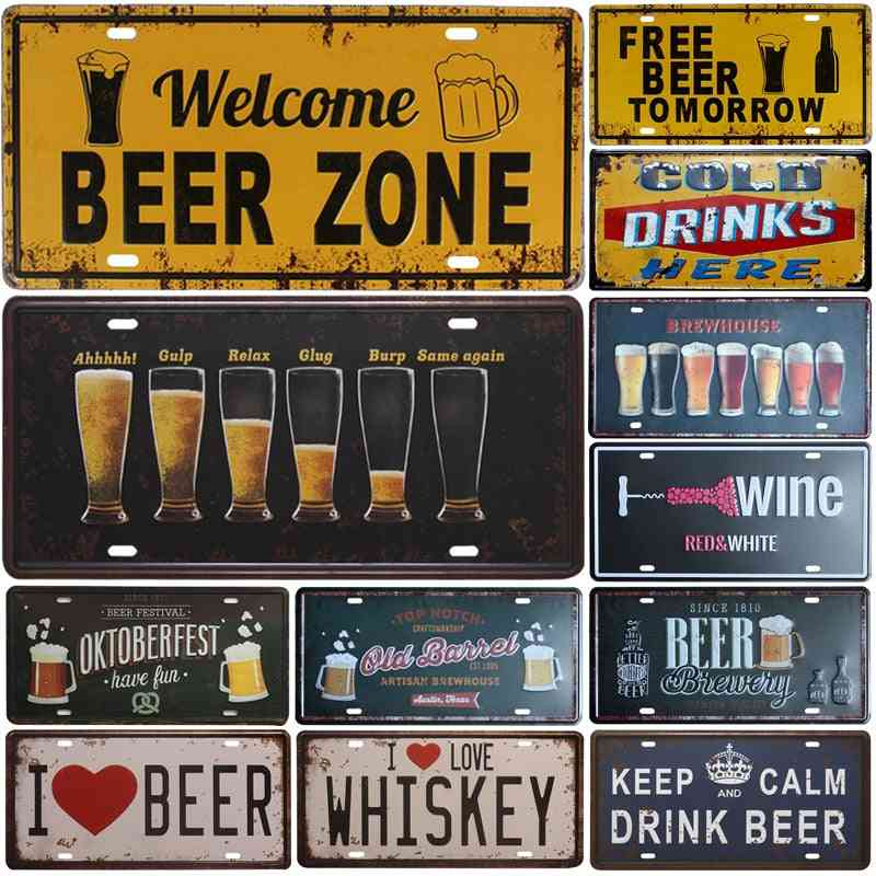 Creative Bar, Pub, Cafe, Home Decor Metal Plate Tin Sign