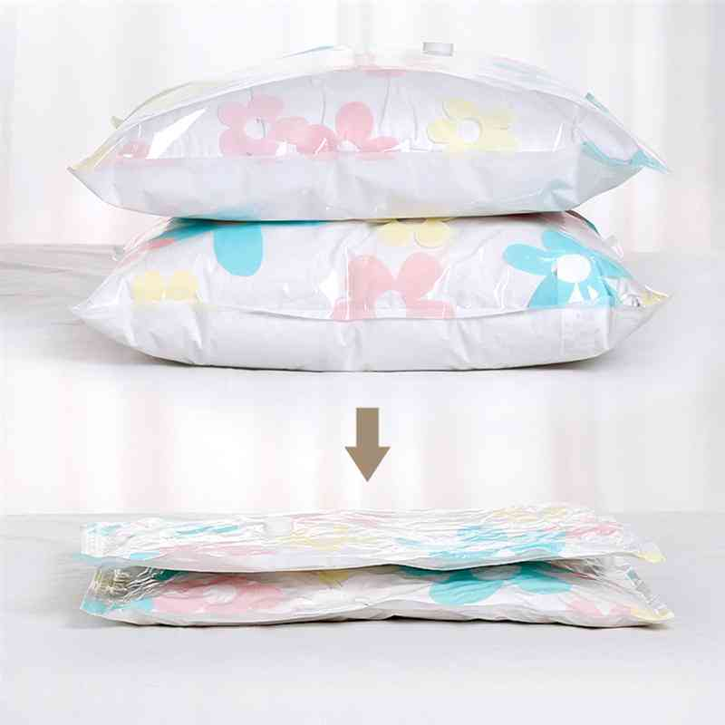 Floral Print-vacuum Storage Bags For Clothes, Blankets, Pillows