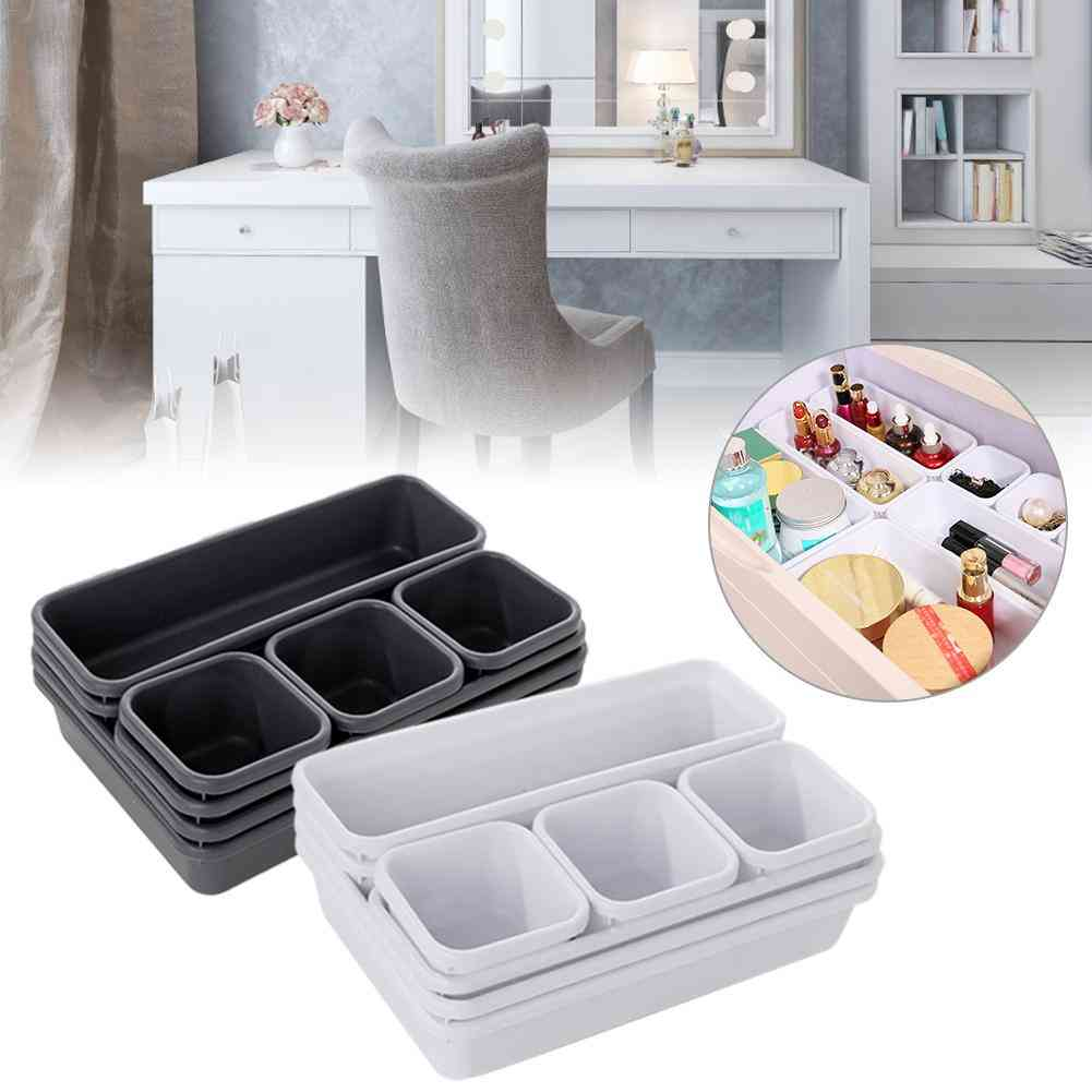 Drawer Organizer Box Storage Trays For Office, Kitchen, Bathroom, Jewelry, Makeup