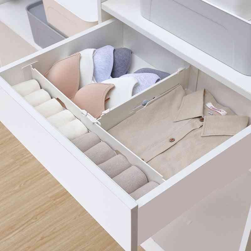 Adjustable Drawer Dividers - Scalable Wardrobe Drawer Separator - Partition Storage Organizer