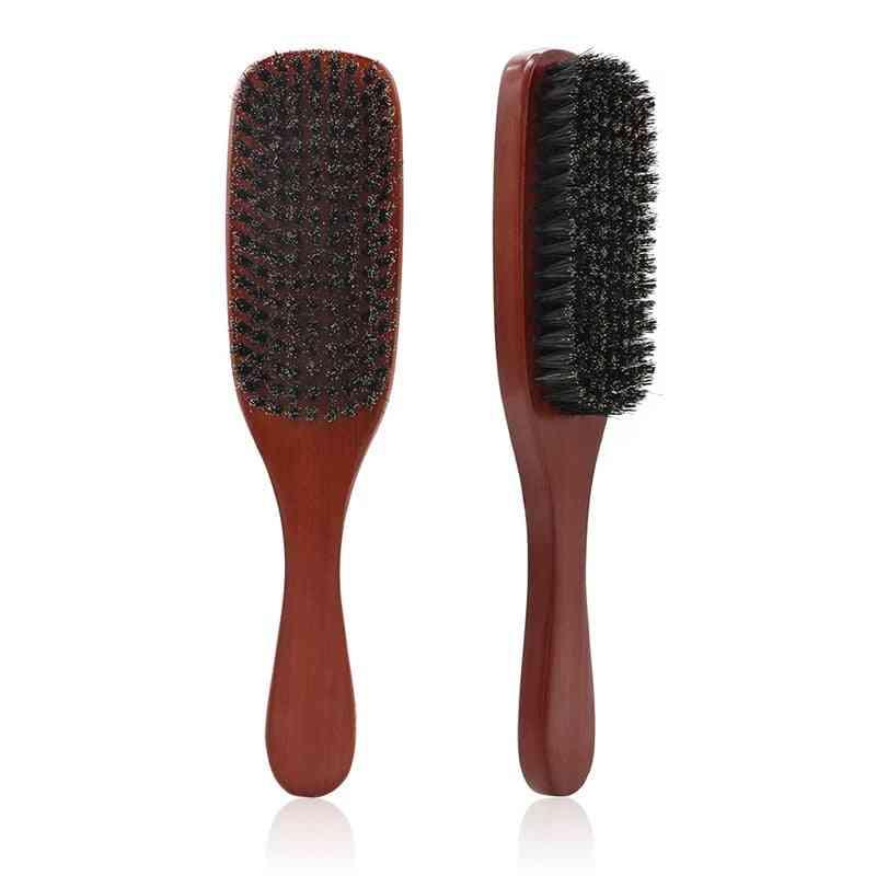Natural Boar Bristle Beard- Facial Hair Cleaning Brush