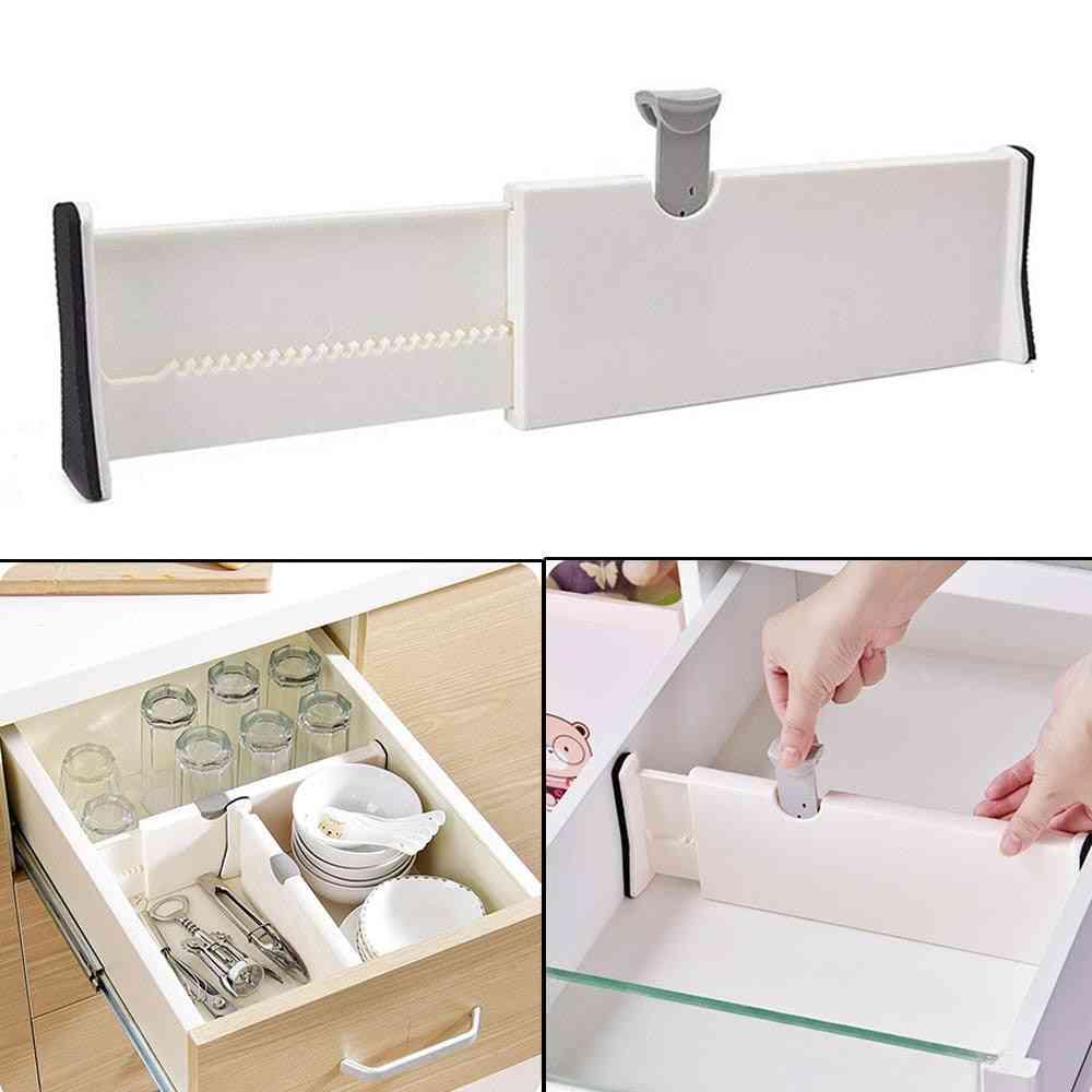 Adjustable Spring Loaded Expandable White Drawer Dividers For  Kitchen, Bedroom, Home