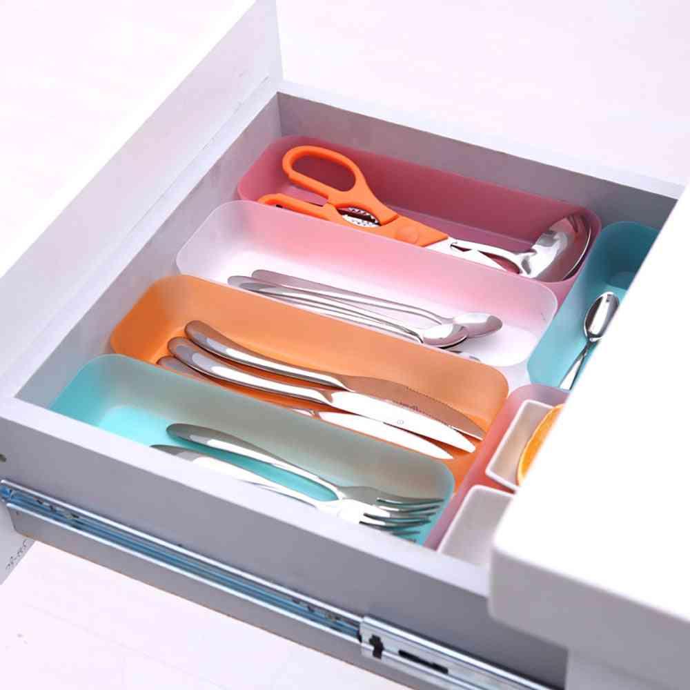 Adjustable Drawer - Kitchen Cutlery Divider - Makeup Storage Box