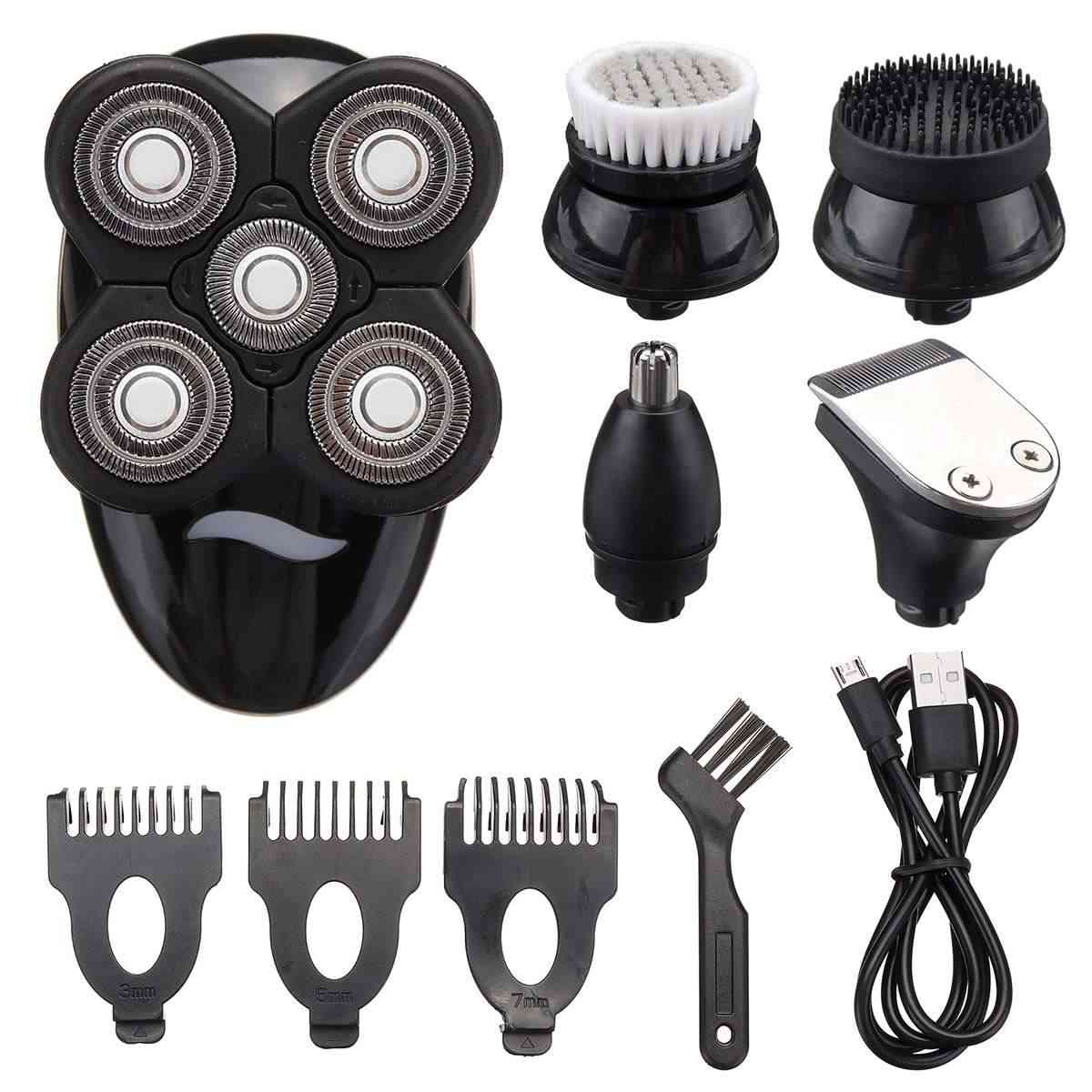 5 In 1 4d Rechargeable Bald Head Electric Shaver