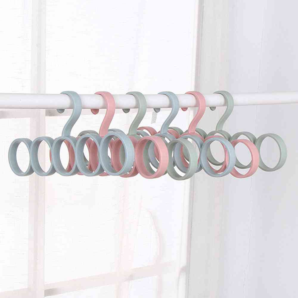 Durable Rings Hanger Rack For Drying Shawl, Scarf, Belt, Tie - Display Organizer For Wraps Storage Holder|