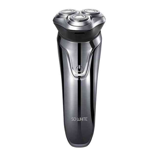 Electric Hair Shaver Razor 3 Cutter Head, Dry, Wet Shaving Smart Usb Rechargeable Waterproof