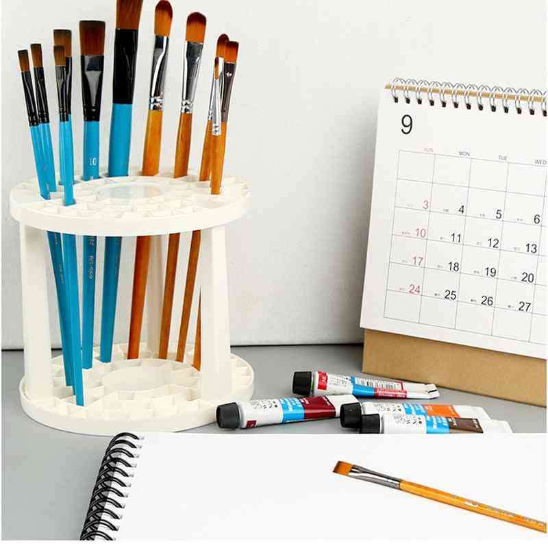 Paint Brushes 49 Holes Pen Rack Display Stand/holder - Watercolor Painting Brush Pen Holder