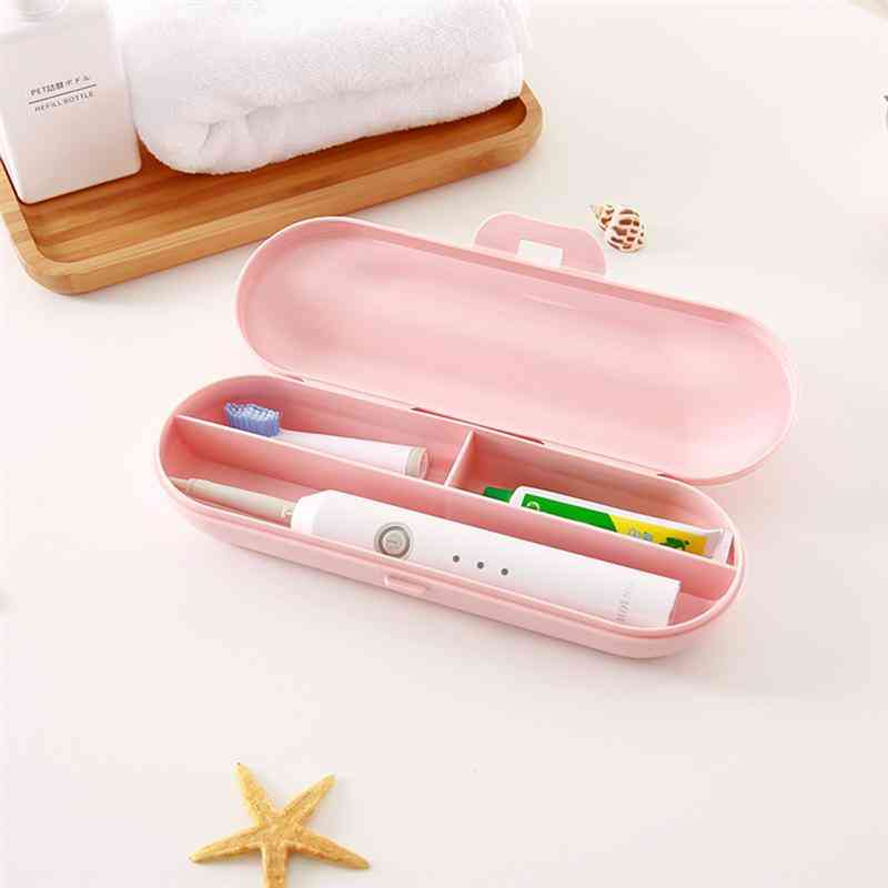 Portable Electric Toothbrush Case And Storage Box - Toothpaste Holder For Camping And Traveling