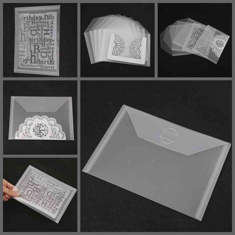 Transparent Portable Storage Bag - Metal Cutting Dies Storage, Clear Silicone Stamp Bump Template Card Cover