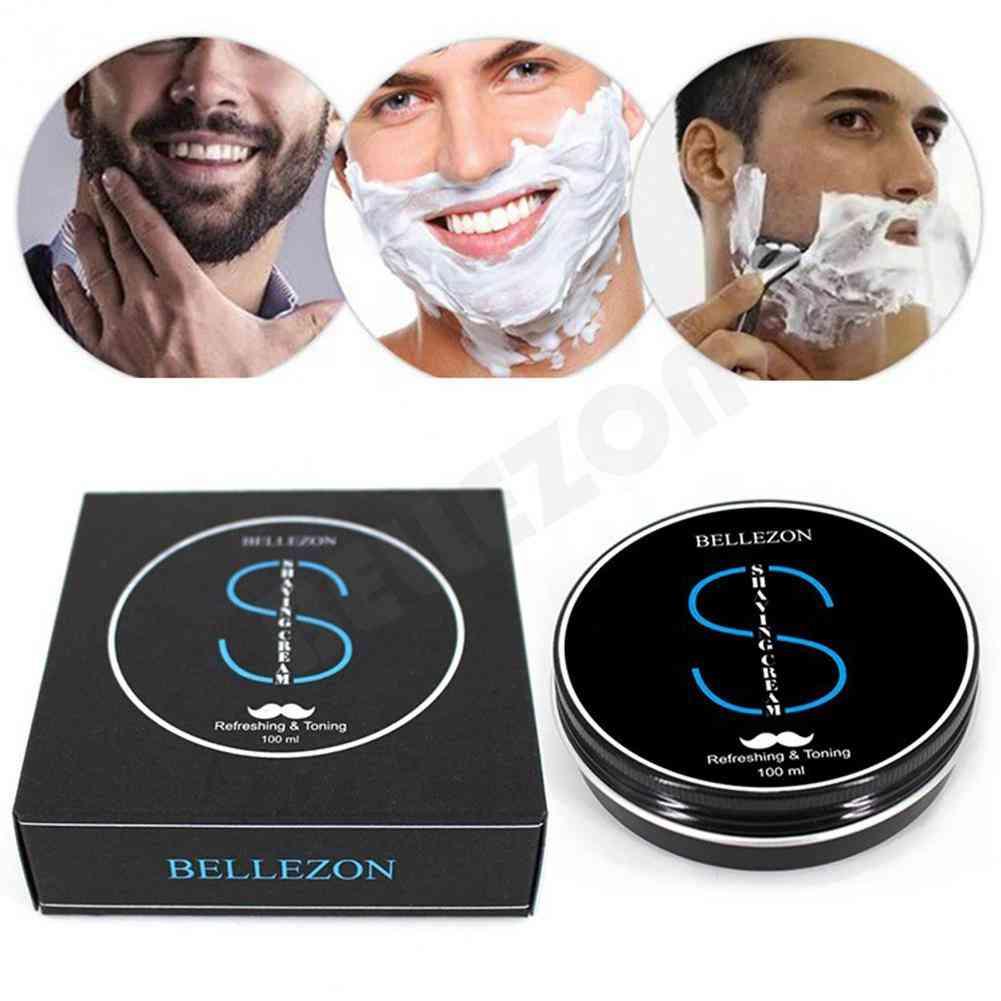 Men Soft Shaving Soap Cream Anti Allergy Beard