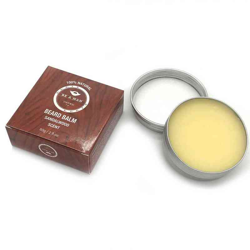 Organic And Natural Conditioner, Sandalwood Balm For Beard Growth