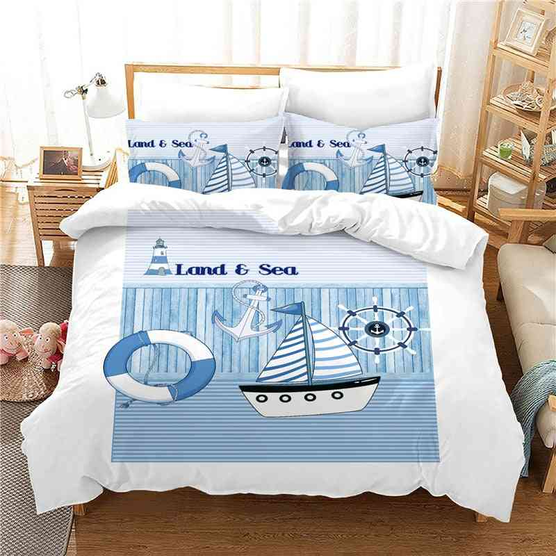 Modern Style 3d Printing Bedding Sets - Quilt Cover And Pillowcase