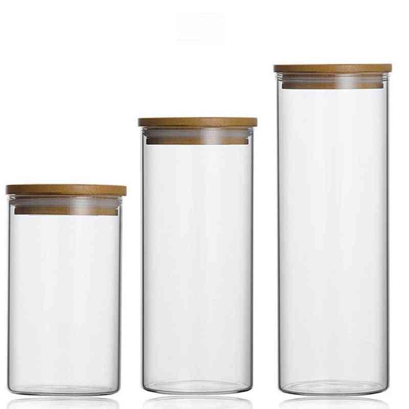 Large Capacity, Sealed Glass Jar For Food Storage
