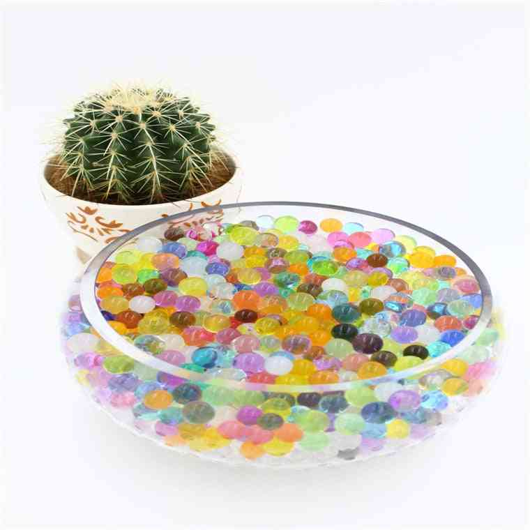 Large Hydrogel Pearl Shaped Crystal Soil Water Beads - Mud Grow Magic Jelly Balls Wedding Home Decor