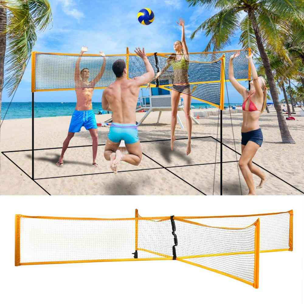 Adjustable And Portable Cross Volleyball Sports Net