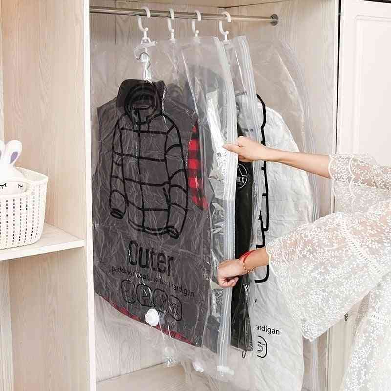 Transparent Foldable Border Sealed Storage Vacuum Compression Bag For Clothes