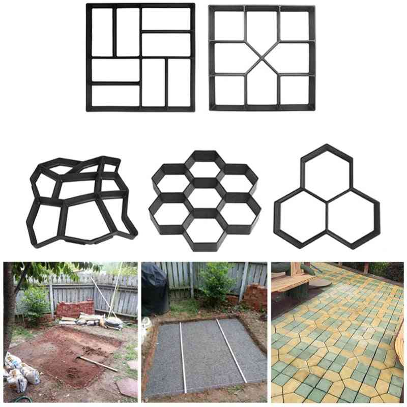 Diy- Plastic Mold For Manually Paving Cement Brick