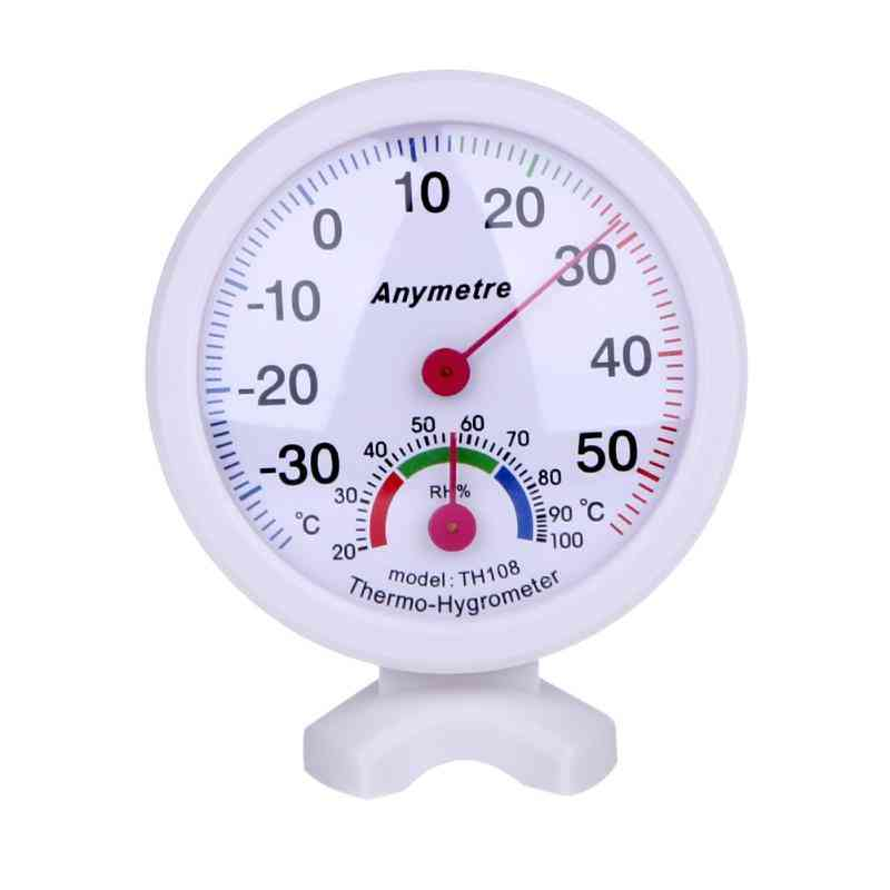 Round, Digital, Hydro-thermometer For Greenhouse