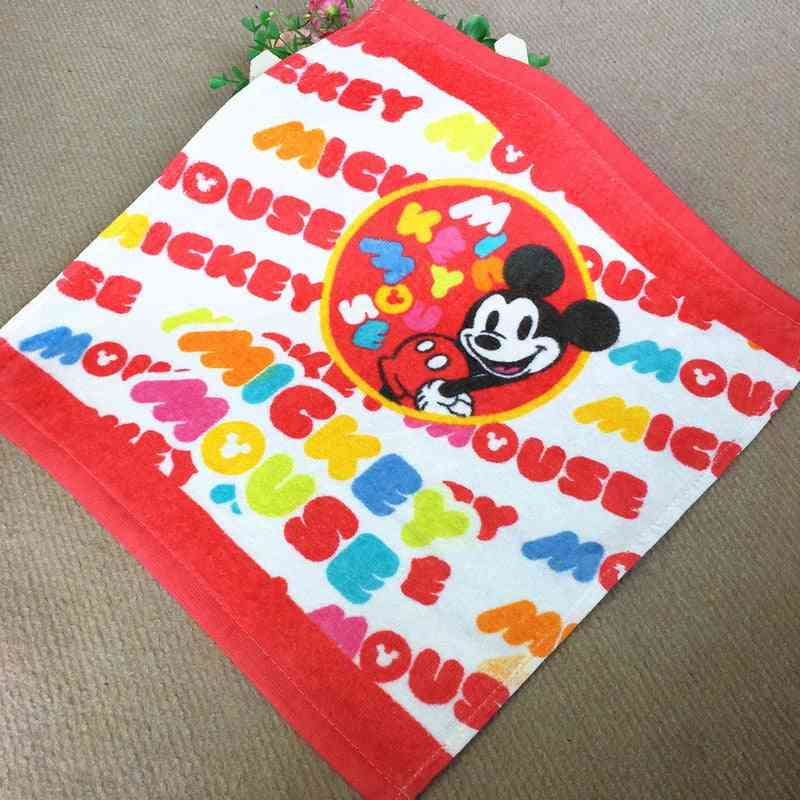 Soft Breathable Disney Cotton Handkerchief - Mickey Minnie Mouse Hanky For Kids
