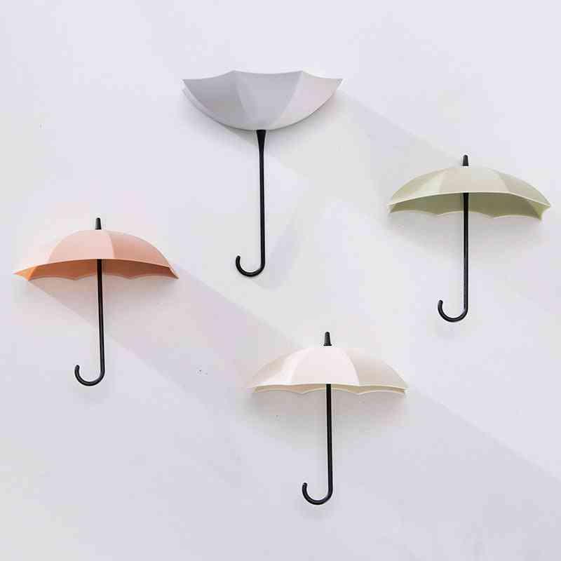 Creative, Umbrella Shape Wall Hook-key Holder