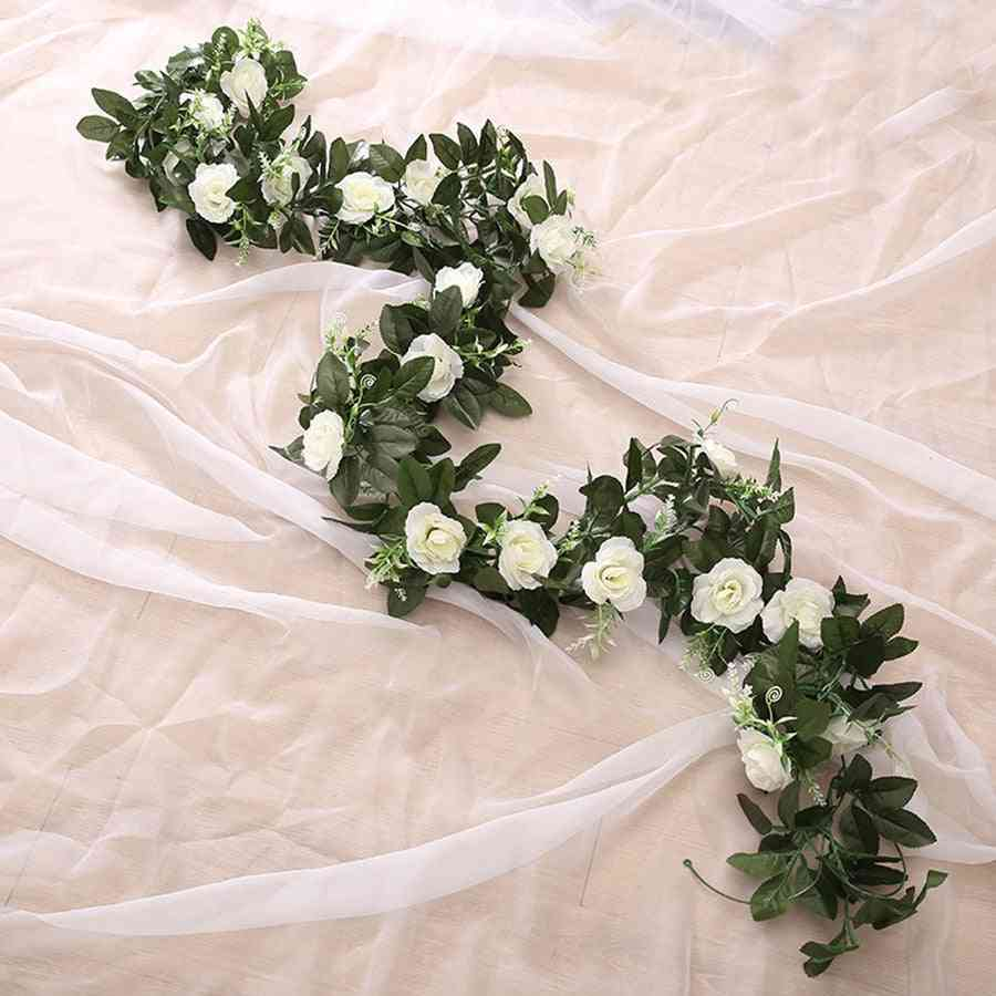 Artificial Silk Rose, Hanging Flowers For Wall, Wedding, Home Decoration