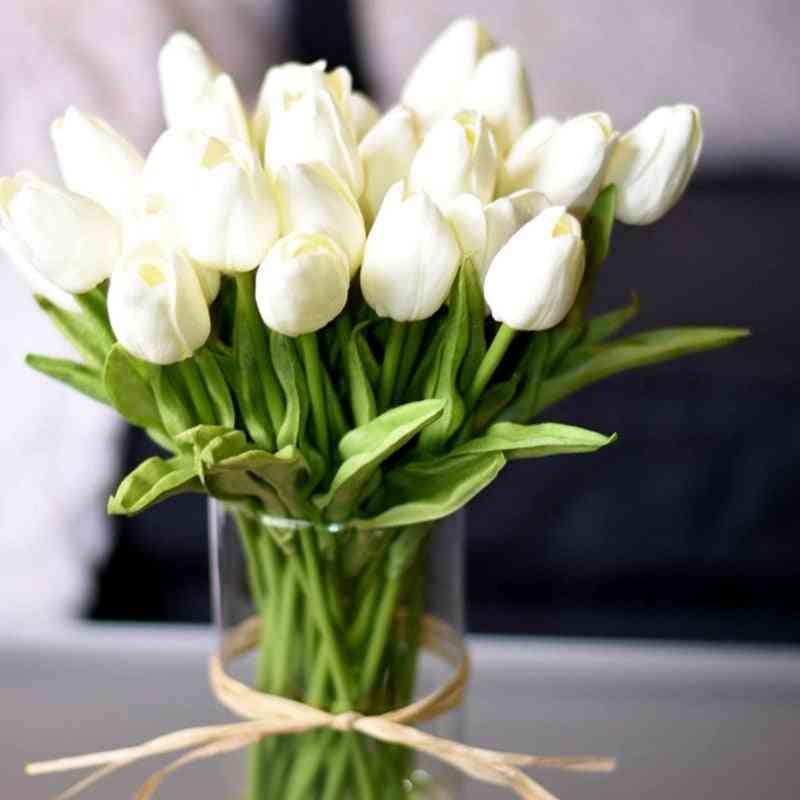 Artificial Tulip Flower Bouquet For Wedding, Home And Garden Decor