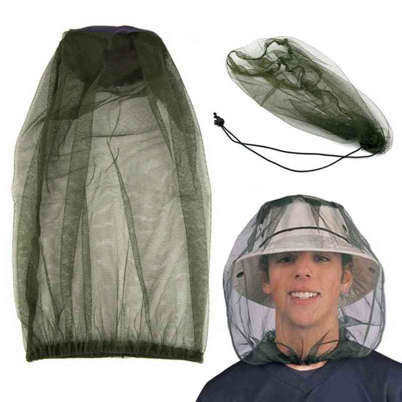 Outdoor Mosquito Head Net Hat - Fishing Cap Midge Insect, Fishing, Bug, Face Protector For Traveling And Camping