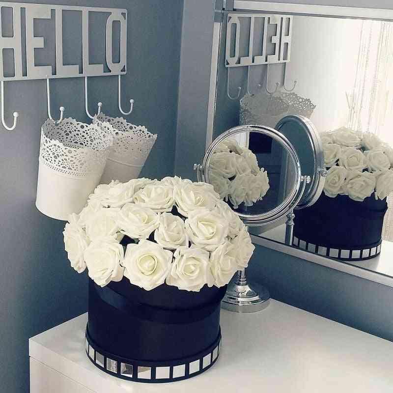 New Colorful Artificial Pe Foam Rose Flowers, Bouquet For Home Wedding Decor