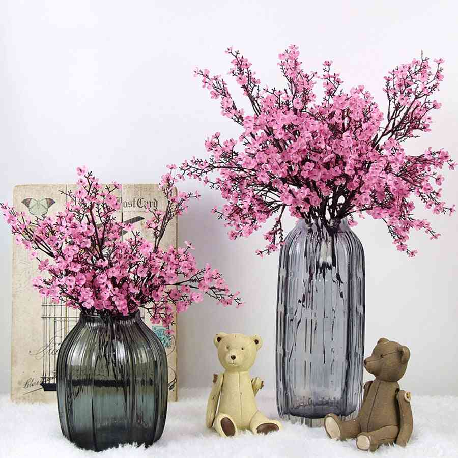 Cherry Blossoms Artificial Flowers Branch For Baby's Breath