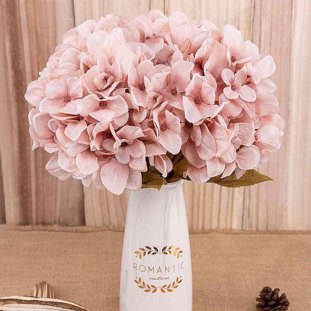 Artificial Hydrangea Autum Flowers For Decor