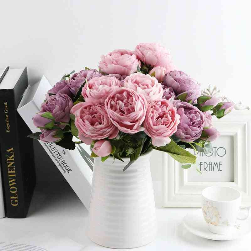Artificial Roses Flowers Bouquet For Home, Wedding, Party And Decoration