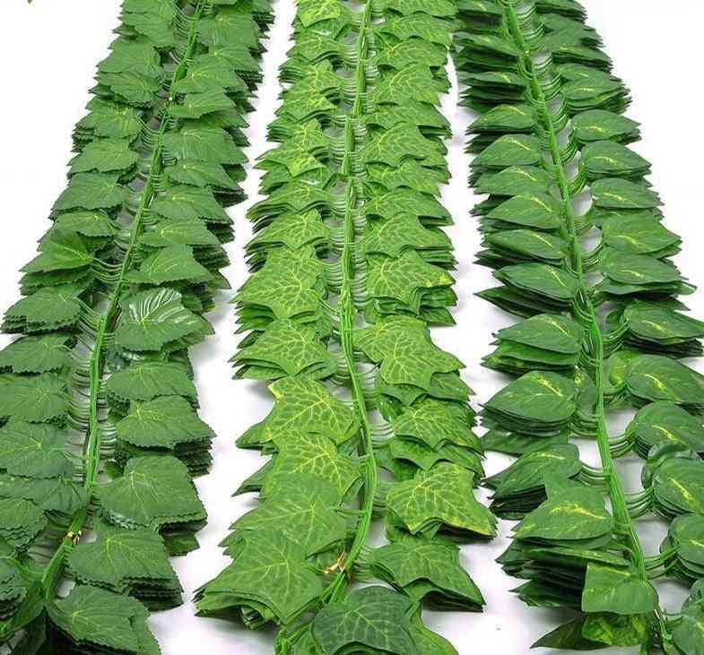 Green Silk Artificial Hanging Ivy Leaf Garland Plants